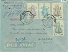 85297 - PORTUGAL - Postal History - REGISTERED COVER to ANGOLA - FATIMA 1950