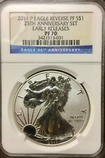 2011 P American Silver Eagle Reverse Proof - 25th Anniversary PF70 NGC ER