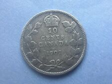 Canada 10 cents 1907 silver