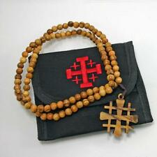 Abbey Press Jesus Beads (Chotki) with Jerusalem Cross and Felt Pouch