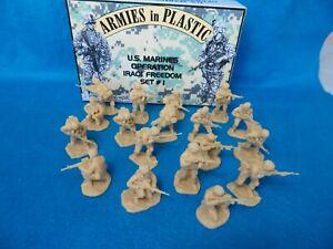 Armies in Plastic #5578 U.S. Marines #1 Iraq (54MM) 18 figures in 6 Poses