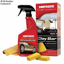 Clay Bar Kit Detailing System Auto Car Bars Mothers California Gold Clean Care