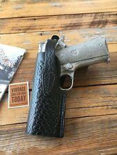 Vintage Tex Shoemaker 45TB Black Basketweave Colt Commander Holster LEFT