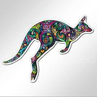 funny car bumper sticker colourful Australian kangaroo 138 x 94 mm vinyl decal