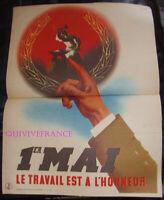 AFFICHETTE 1er MAI 1941
