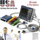 8''Medical Monitor ICU CCU Vital Sign Patient Monitor ECG NIBP RESP TEMP SPO2 HR