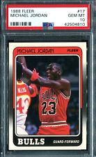 1988 Fleer Basketball Michael Jordan #17 PSA 10 GEM MINT (Lowest Priced on eBay)