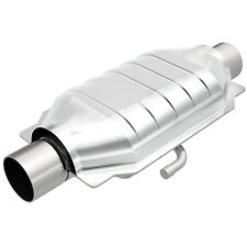 """Magnaflow 93519 Weld-On High-Flow Catalytic Converter Oval 3"""" In/Out w/ Air Tube"""