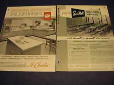 Vintage St. Charles Mfg. & SON-NEL 1960's Furniture Cabinets Kitchens