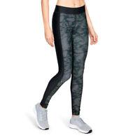 Under Armour Womens HeatGear Printed Leggings Bottoms Pants Trousers Black