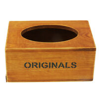 Vintage Wooden Tissue Box Cover Chic Napkin Case Holder Home Car Accessory B