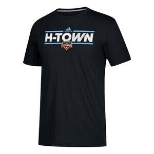 Houston Dynamo MLS Adidas Men's Black Dassler City Nickname Climalite T-Shirt