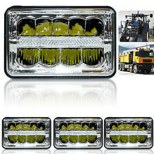 "4""x6"" inch 15 LED Headlights CREE LED Light Bulb Crystal Clear Sealed HeadLamp"