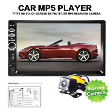 """New listing 7"""" Hd Car Stereo Radio Double 2 Din Bluetooth Mp5 Player Fm Aux+Rear View Camera"""