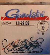 4 146562004 Haken mit Plättchen Angelhaken Gamakatsu 2210 S Blau Gr