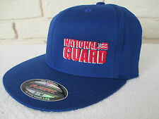 """NWT National Guard Blue Baseball Hat Size S/M Flexfit Fitted Cap 6-3/4""""-7-1/4"""""""