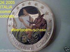 2 euro 2005 ITALIA color farbe kleur couleur italie italien italy Италия Italië