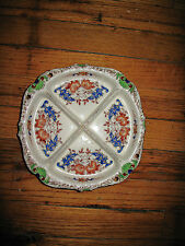 Hand painted porcelain china 4 sections plate Japan