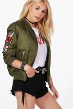 Satin Bomber Floral Coats & Jackets for Women