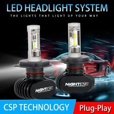 NIGHTEYE H4 8000LM Car LED Headlight Kit Auto Bulbs Light Lamp White Beam 6500K