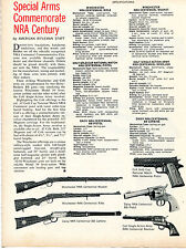 1971 Print Article of Special Arms Commemorate NRA Century Winchester Daisy Colt