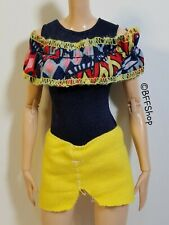 New Yellow Blue Off Shoulder Dress Fashionistas Barbie Fashion Clothes Curvy