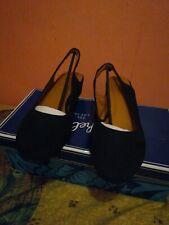 Seychelles IB00803 Women's Size 7 Black Suede Slingback Flat Shoe Size 7.5