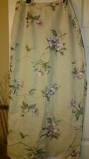 Stunning Kaliko cream maxi linen skirt with embroidered pink flowers size 12