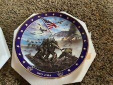 bradford exchange collector plates  History War Plates 6 plates with cert.