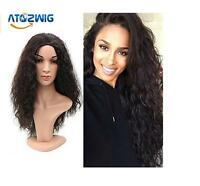 New Women Long Curly Wavy Cosplay Anime Full Wigs Heat Resistant Hair + Wig Cap
