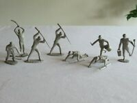 Lot of 8 Marx Battle Blue & Grey Confederate Centennial Soldiers maybe Recast