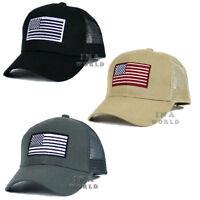 USA American hat Flag cap Tactical Operator Mesh Trucker Snapback Baseball cap