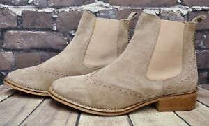 Womens Zign Light Brown Suede Pull On Low Heel Ankle Boots UK 5 EUR 38 RRP - £70