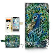 ( For iPhone 7 ) Wallet Case Cover P21471 Peacock