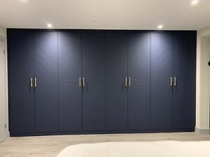 Folding Bifold Hinged Wardrobe MDF Doors Made To Measure Custom Design