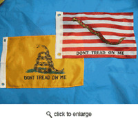 "12x18 12""x18"" Gadsden And Navy Jack Boat Car Flag ( Wholesale Pack Gift Set )"