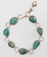 nugget handmade Native American bracelet Fun vintage sterling silver turquoise