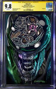 Alien #1 XENOMORPH VS PREDATOR REMARK Greg Horn Art variant cover CGC SS 9.8