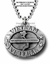 "VIETNAM VETERAN NECKLACE - MILITARY VET GIFT PENDANT 22"" CHAIN - FREE SHIP  #P*"