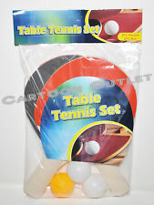 TABLE TENNIS PADDLES 2 PC PING PONG 3 FREE BALLS KIDS TOY BIRTHDAY GIFT FUN NEW