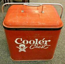Vintage Soda Beer Cooler Chest Eskimo Circa early 1960s Coca Cola Colors W Tray