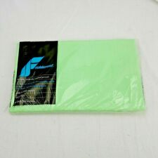 Vintage Fieldcrest Perfection Percale Fitted Twin Sheet Green NOS NWT