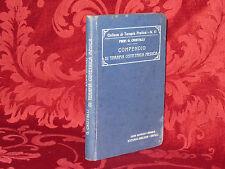 Libro 1920 Compendio di Terapia Ostetrica Medica Prof. Giuseppe Cristalli