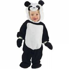 BABY TODDLER PLUSH PANDA BEAR ANIMAL HALLOWEEN FANCY DRESS COSTUME OUTFIT 6-12M