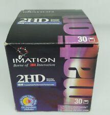 Imation 3.5 Black Floppy Diskettes 2HD IBM Formatted 30 Disks Sealed