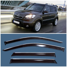Chrome Trim Window Visors Guard Vent Deflectors For Kia Soul I (AM) 2009-2012