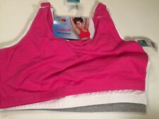 Fruit Of The Loom Full Coverage Sports Tank 3 Pack Sports Bra Size 44 NWT
