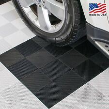 Garage Tiles | Perforated Tiles Black - Made In the USA