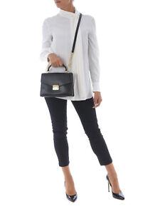 Michael Kors Sloan Medium Satchel  Black -  Handbag
