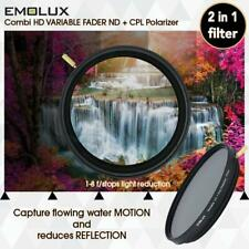 EMOLUX 77MM COMBI HD ND2-400 PLUS CPL POLARIZER 2 IN 1 FILTER